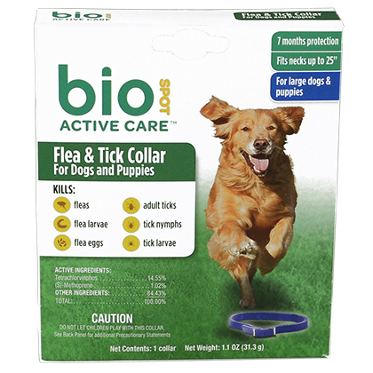 Bio Spot Active Care Flea & Tick Collar For Dogs Large Dog