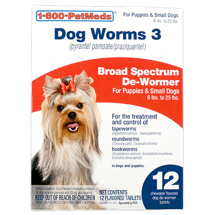Dog Worms 3 Dog Wormer Pork Flavored De Wormer 1800petmeds