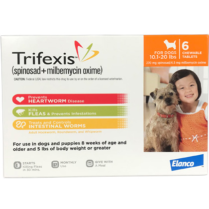 Trifexis 12pk Dog 10.1-20 lbs by Elanco