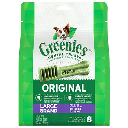 Image of Greenies Dental Treats 12oz Large 8 Treats by S & M NUTEC
