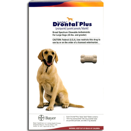 Wormers Medication, Drontal Plus 136 mg (sold per tablet)