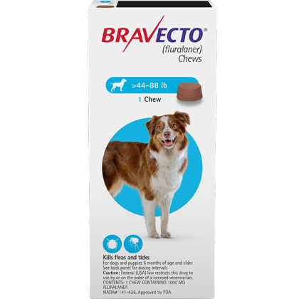 image about Bravecto Printable Coupons named Bravecto Chews 2 Dose Superior Canine 44-88 kilos