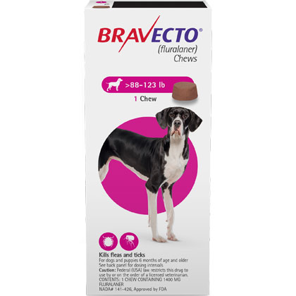 graphic regarding Bravecto Printable Coupons known as Bravecto Chews 2 Dose Additional Substantial Doggy 88-123 lbs .