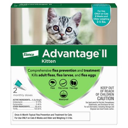 Advantage II 2pk Kitten 2-5 lbs