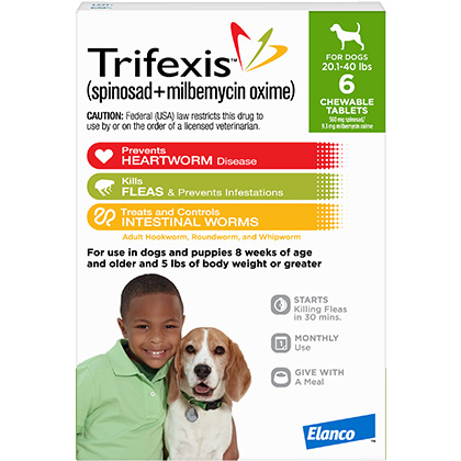 photograph about Trifexis Printable Coupon known as Trifexis 6pk Canine 20.1-40 kilos