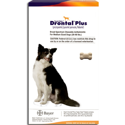 Wormers Medication, Drontal Plus 68 mg (sold per tablet)