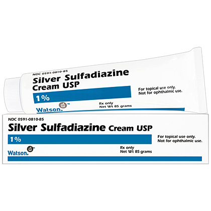 Silver Sulfadiazine Cream 1% (Click for Larger Image)