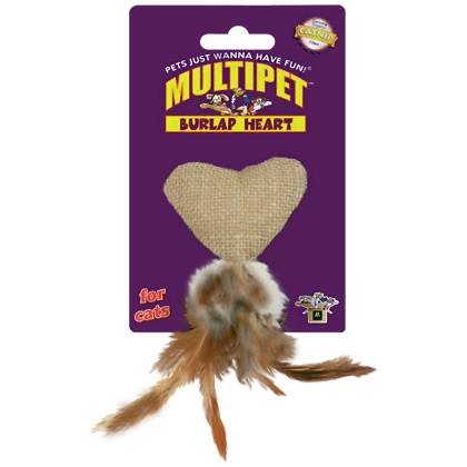 Burlap Heart Catnip Toy (Click for Larger Image)
