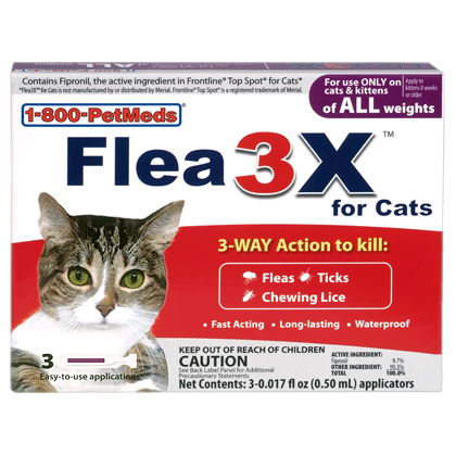 Flea3X for Cats (Click for Larger Image)