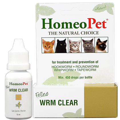 Homeopet Feline Wrm Clear 15ml Bottle