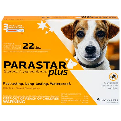 Image of Parastar Plus for Dogs 6pk 4-22 lbs by NOVARTIS