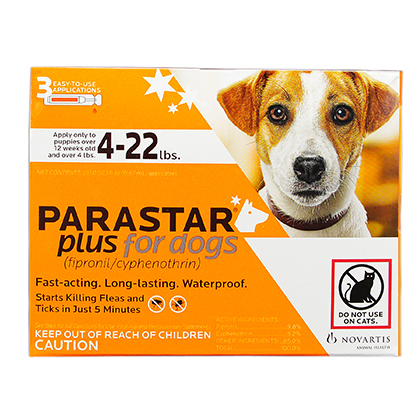 Image of Parastar Plus for Dogs 3pk 4-22 lbs by NOVARTIS