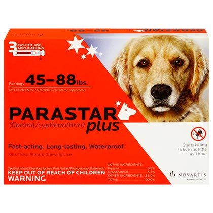 Image of Parastar Plus for Dogs 3pk 45-88 lbs by NOVARTIS