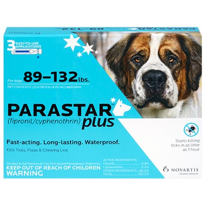 Image of Parastar Plus for Dogs 3pk 89-132 lbs by NOVARTIS