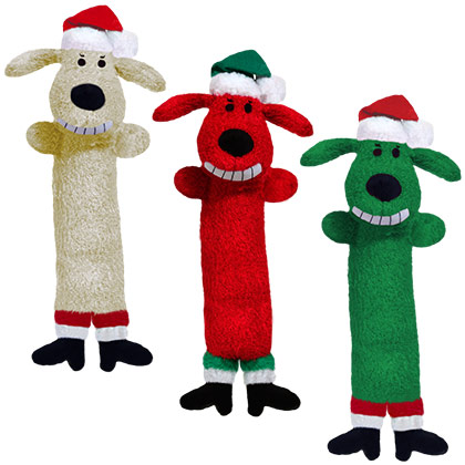 Loofa Santa Dog Toy (Click for Larger Image)