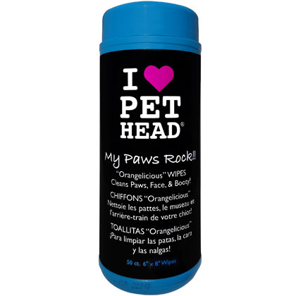 Pet Head My Paws Rock Paw Wipes for Pets in Orangelicious (Click for Larger Image)