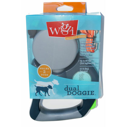 Wigzi Dual Doggie Retractable Dog Leash (Click for Larger Image)