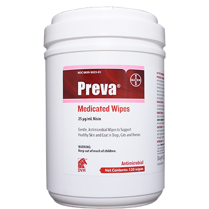Preva Medicated Wipes Antimicrobial Cleansing Wipes