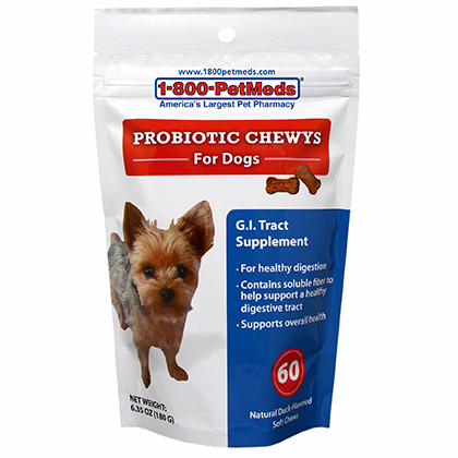 Probiotic Chewys G.I. Tract Supplement for Dogs (Click for Larger Image)