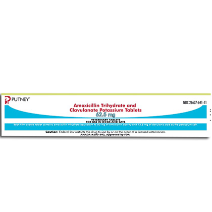 Amoxicillin Trihydrate and Clavulanate Potassium Tablets (Click for Larger Image)