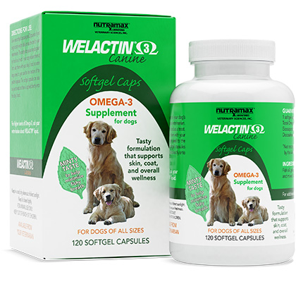 Welactin Omega 3 Canine 120 ct Softgel Caps