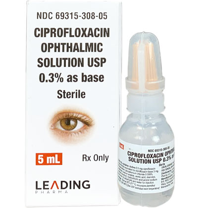 Ciprofloxacin Hydrochloride Ophthalmic Solution (Click for Larger Image)