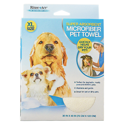 Rinse Ace Super Absorbent Microfiber Pet Towel (Click for Larger Image)
