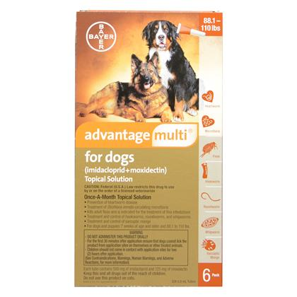 Advantage Multi 6pk Dogs 88-110 lbs by BAYER