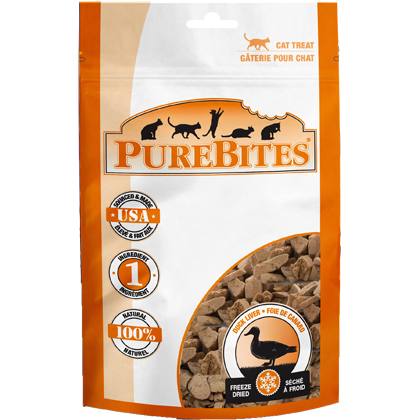 Image of PureBites Freeze-Dried Cat Treats Duck Liver 1.05 oz by 1-800-PetMeds
