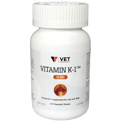 Vitamin K-1 Chewable Tablets (Click for Larger Image)