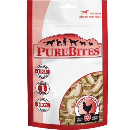 Image of PureBites Freeze-Dried Dog Treats Chicken Breast 11.6 oz by 1-800-PetMeds