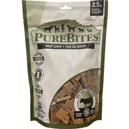 Image of PureBites Freeze-Dried Dog Treats Beef Liver 16.6 oz by 1-800-PetMeds