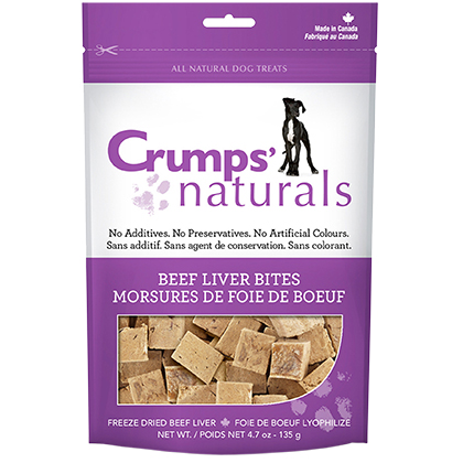 Crumps' Naturals Beef Liver Bites (Click for Larger Image)