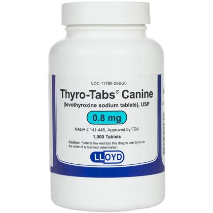 Thyroid Medications Medication, Levothyroxine 0.8 mg (sold per tablet) by 1-800-PetMeds