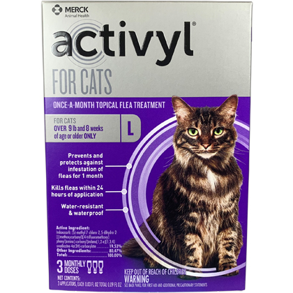 Activyl 3pk Cats Over 9 lbs by MERIAL