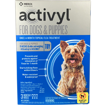Image of Activyl 3pk Dogs 4-14 lbs
