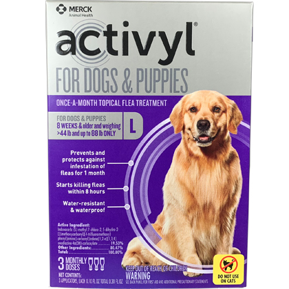 Activyl 3pk Dogs 44-88 lbs by MERIAL