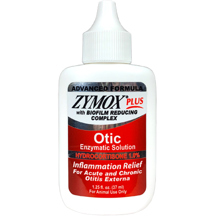 Zymox Plus Advanced Formula Otic Enzymatic Solution with Hydrocortisone (Click for Larger Image)
