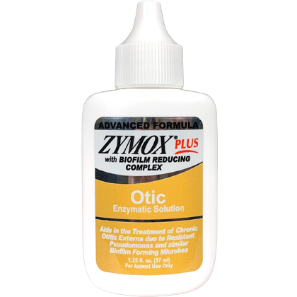 Zymox Plus Advanced Formula Otic Enzymatic Solution Hydrocortisone Free (Click for Larger Image)