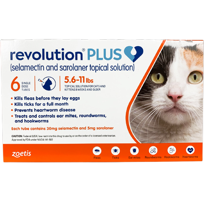 Revolution Plus 5.6-11 lbs 6 pk Orange