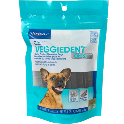 C.E.T. VeggieDent FR3SH Chews for Dogs (Click for Larger Image)