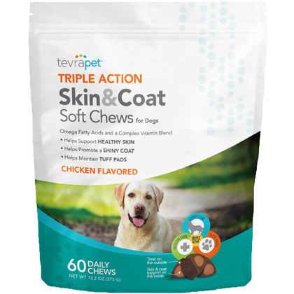 TevraPet Triple Action Skin & Coat Soft Chews (Click for Larger Image)