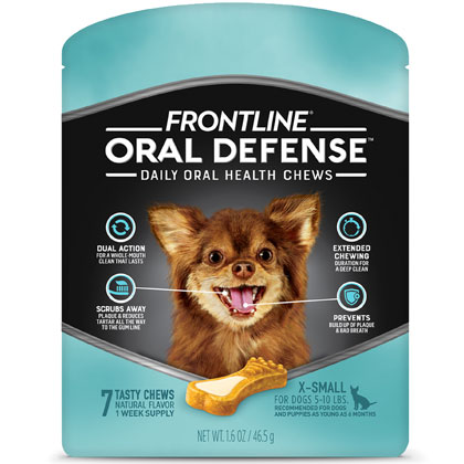 Frontline Oral Defense Daily Dental Chews (Click for Larger Image)