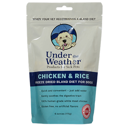 Under the Weather Chicken & Rice Freeze Dried Bland Diet for Dogs (Click for Larger Image)
