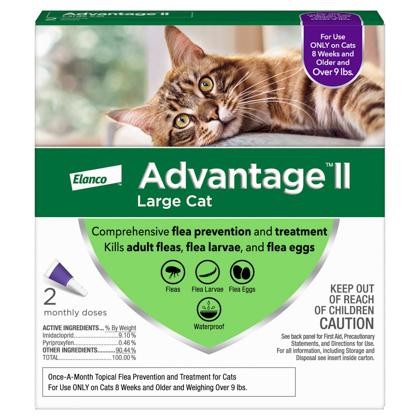 Advantage II 2 pk Cat Over 9 lbs
