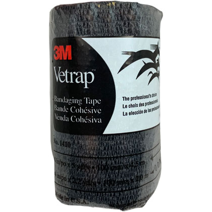 3M Vetrap Bandaging Tape 4 inch Black