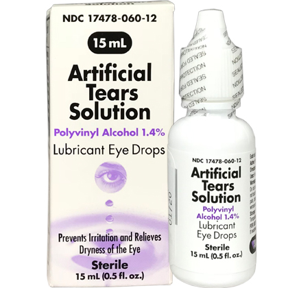 Artificial Tears Solution Eye Drops (Click for Larger Image)