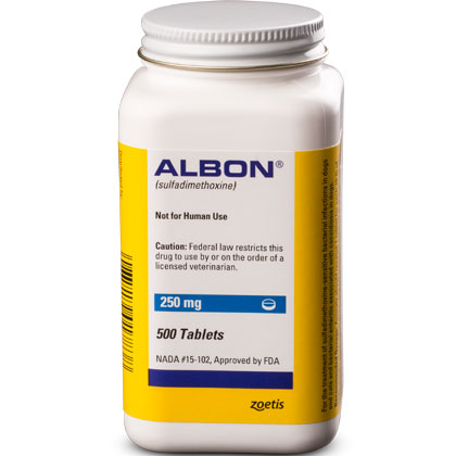 Albon Tablets (Click for Larger Image)