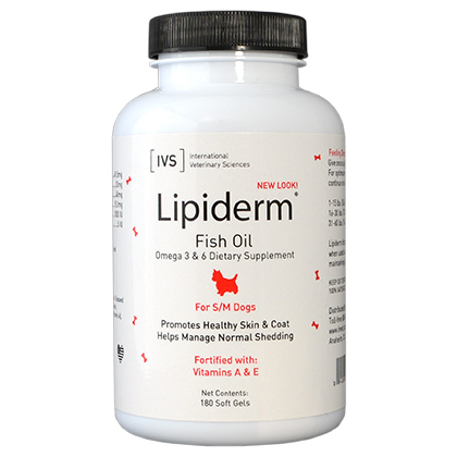 Lipiderm Gel Capsules Sm & Med Dogs 180 ct by INTER. VET SCIENCE