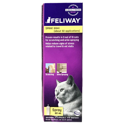 Anxiety Medication, Feliway For Cats 60 ml Spray Bottle